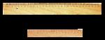 Скачать PNG картинку на прозрачном фоне Две деревянные линейки, 30 сантиметров и 17 сантиметров