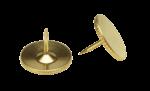 Скачать PNG картинку на прозрачном фоне Две металлические канцелярские кнопки рядом
