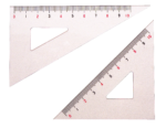 Скачать PNG картинку на прозрачном фоне Две пластиковые линейки треугольник