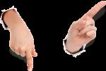 Скачать PNG картинку на прозрачном фоне Две руки указывает в разные стороны