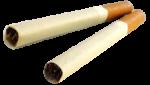 Скачать PNG картинку на прозрачном фоне Две сигареты рядом