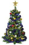 Скачать PNG картинку на прозрачном фоне елка,с золотой звездой, мишура, игрушки