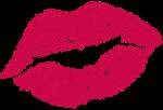 Скачать PNG картинку на прозрачном фоне Фиолетоывй след от поцелуя, нарисованный
