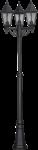 Скачать PNG картинку на прозрачном фоне Фонарь уличный с тремя плафонами