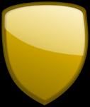 Скачать PNG картинку на прозрачном фоне Форма нарисованного щита, золотой