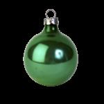Скачать PNG картинку на прозрачном фоне Глянцевый зеленый елочный шар