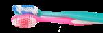 Скачать PNG картинку на прозрачном фоне Голубая и розовая зубная щетка рядом