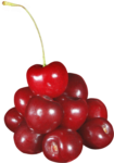 Скачать PNG картинку на прозрачном фоне Горка красных ягод черешни