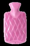 Скачать PNG картинку на прозрачном фоне Грелка резиновая, розовая, вид сверху