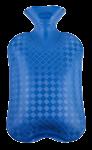 Скачать PNG картинку на прозрачном фоне Грелка резиновая, синяя, вид сверху