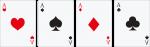 Скачать PNG картинку на прозрачном фоне Игральные карты, четыре туза