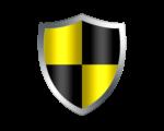 Скачать PNG картинку на прозрачном фоне Иконка щита желто-черного