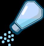 Скачать PNG картинку на прозрачном фоне Из нарисованнной соолонки сыпится соль