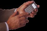 Скачать PNG картинку на прозрачном фоне Калькулятор в мужской руке