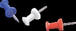 Скачать PNG картинку на прозрачном фоне Канцелярские кнопка, с расзноцветной кпластиковой головкой