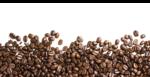 Скачать PNG картинку на прозрачном фоне Кофейные зерна, кучкой снизу