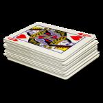 Скачать PNG картинку на прозрачном фоне Колода игральных карт, дама черви сверху