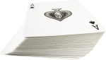 Скачать PNG картинку на прозрачном фоне Колода игральных карт, перевернут тур пика, вид сбоку