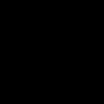 Скачать PNG картинку на прозрачном фоне Контур четырехлистного клевера