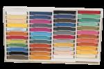 Скачать PNG картинку на прозрачном фоне Коробка с разноцветными мелками с квадратным сечением