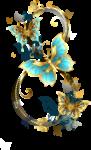 Скачать PNG картинку на прозрачном фоне Красивая нарисованная цифра 8 с цветами и бабочками