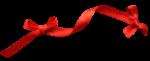 Скачать PNG картинку на прозрачном фоне Красная лента с двумя бантами