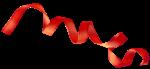 Скачать PNG картинку на прозрачном фоне Красная лента в виде спирали