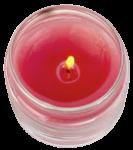 Скачать PNG картинку на прозрачном фоне Красная свеча в стеклянном подсвечнике, горит, вид сверху