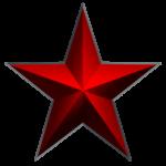 Скачать PNG картинку на прозрачном фоне Красная звезда с затемненными краями пятиконечная