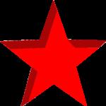 Скачать PNG картинку на прозрачном фоне Красная звезда внутри, пятиконечная
