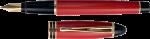 Скачать PNG картинку на прозрачном фоне Красно-черная дорогая авторучка перьевая