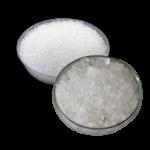 Скачать PNG картинку на прозрачном фоне Крупная соль в прозрачной тарелке