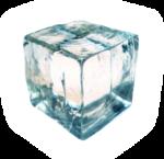 Скачать PNG картинку на прозрачном фоне Кубик льда