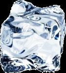 Скачать PNG картинку на прозрачном фоне Кубик полу-прозрачного льда