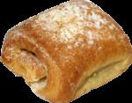 Скачать PNG картинку на прозрачном фоне квадратная булочка с сахарной присыпкой