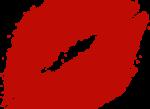 Скачать PNG картинку на прозрачном фоне Легкий след от помады