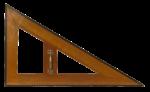 Скачать PNG картинку на прозрачном фоне Линейка треугольник, деревянная с ручкой