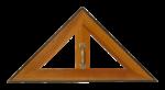 Скачать PNG картинку на прозрачном фоне Линейка треугольник под 90 градусов, деревянная с ручкой