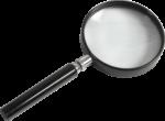Скачать PNG картинку на прозрачном фоне Лупа с черной рамкой и черной ручкой