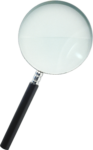 Скачать PNG картинку на прозрачном фоне Лупа, вид сверху