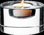 Скачать PNG картинку на прозрачном фоне Маленькая свечка в прозрачном подсвечнике