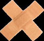 Скачать PNG картинку на прозрачном фоне Медицинский пластырь наклеен крестом