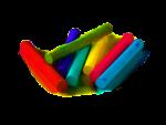 Скачать PNG картинку на прозрачном фоне Мелки разноцветные с круглым сечением