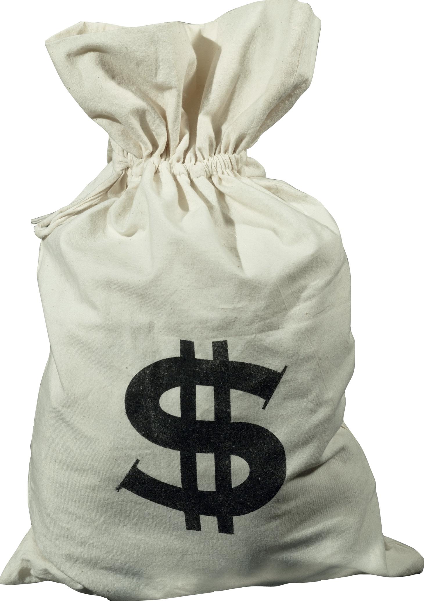мешок долларов картинка без фона тем