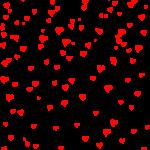 Скачать PNG картинку на прозрачном фоне Много нарисованных сердечек, фон