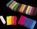 Скачать PNG картинку на прозрачном фоне Много разноцветных мелков с квадратным сечением