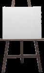 Скачать PNG картинку на прозрачном фоне Мольберт на темном деревянном каркасе