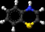 Скачать PNG картинку на прозрачном фоне Молекула бензотиазин