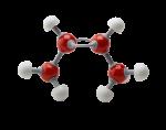 Скачать PNG картинку на прозрачном фоне Молекула бутана