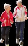 Скачать PNG картинку на прозрачном фоне Мужчина и женщина идут, вид спереди